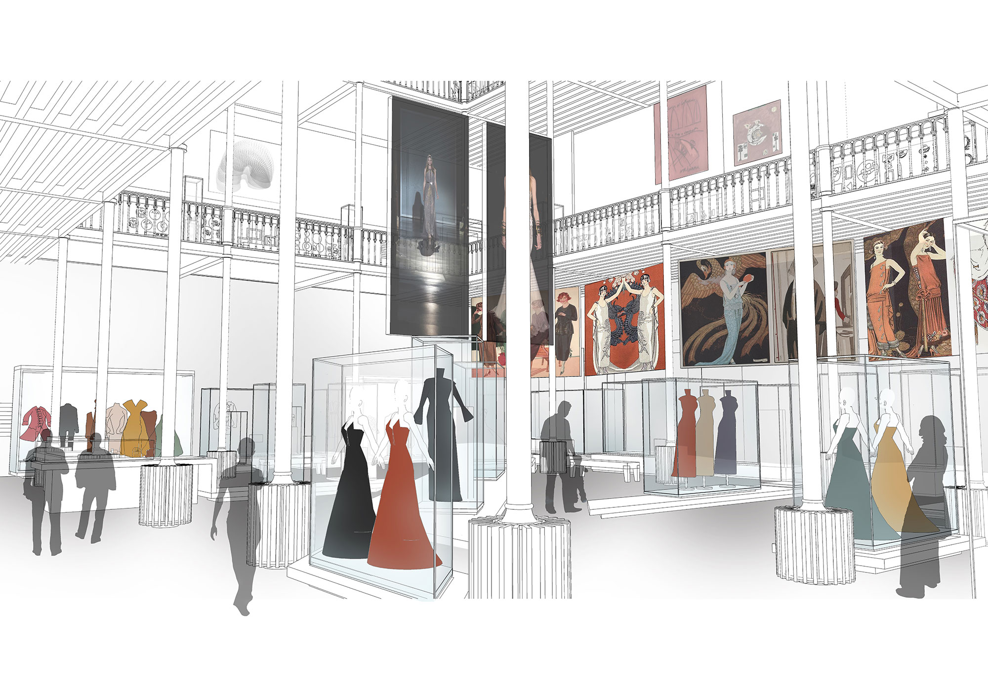 Artist's impression of the new fashion gallery.