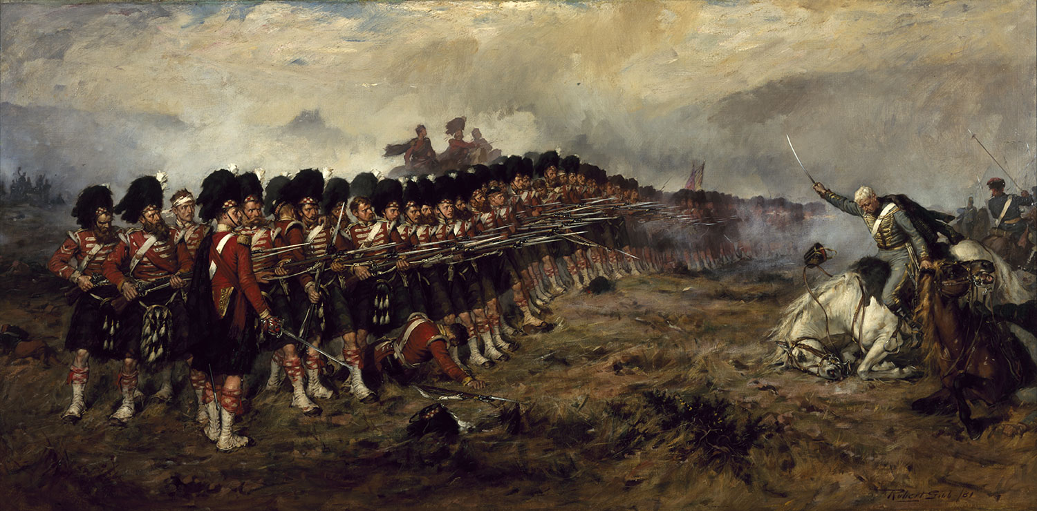 The Thin Red Line by Robert Gibb, 1881. By kind permission of Diageo, on loan to the National Museums Scotland.
