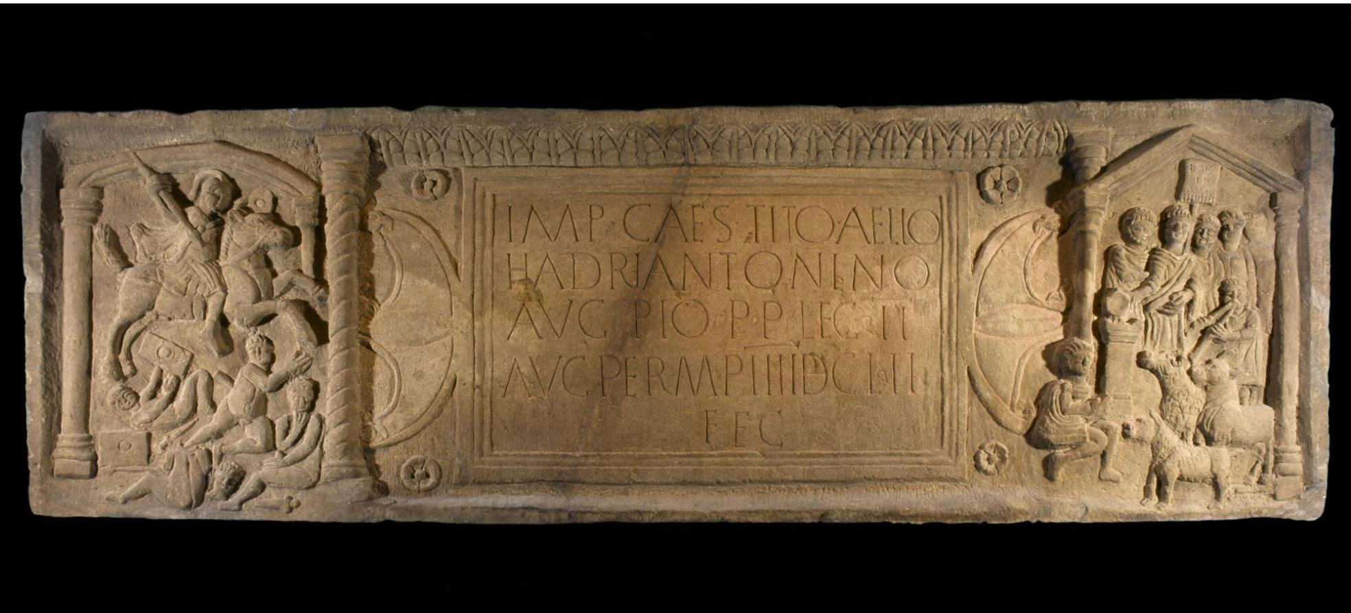 Commemorative stone from the Antonine Wall