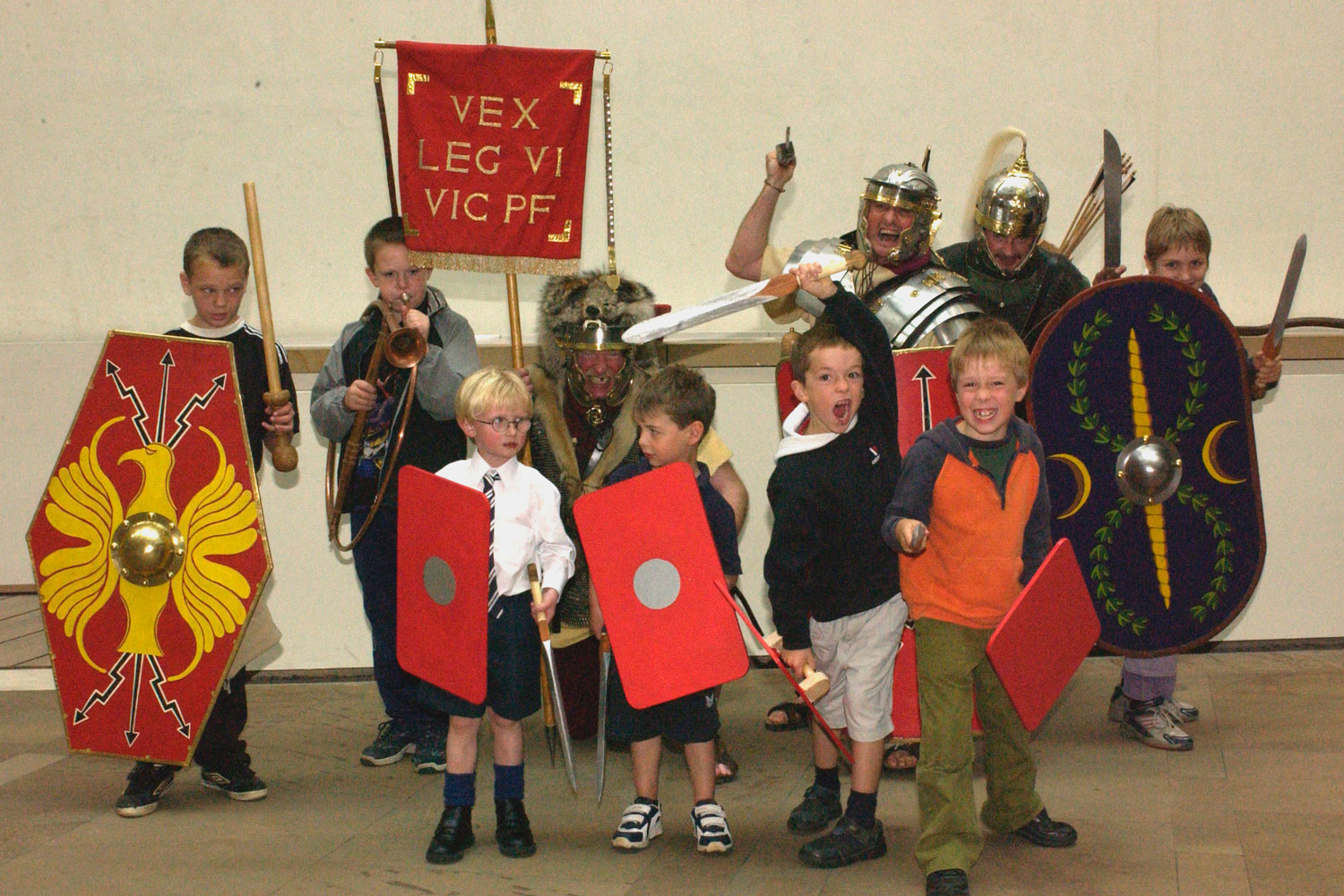 Dressing up as a Roman soldier