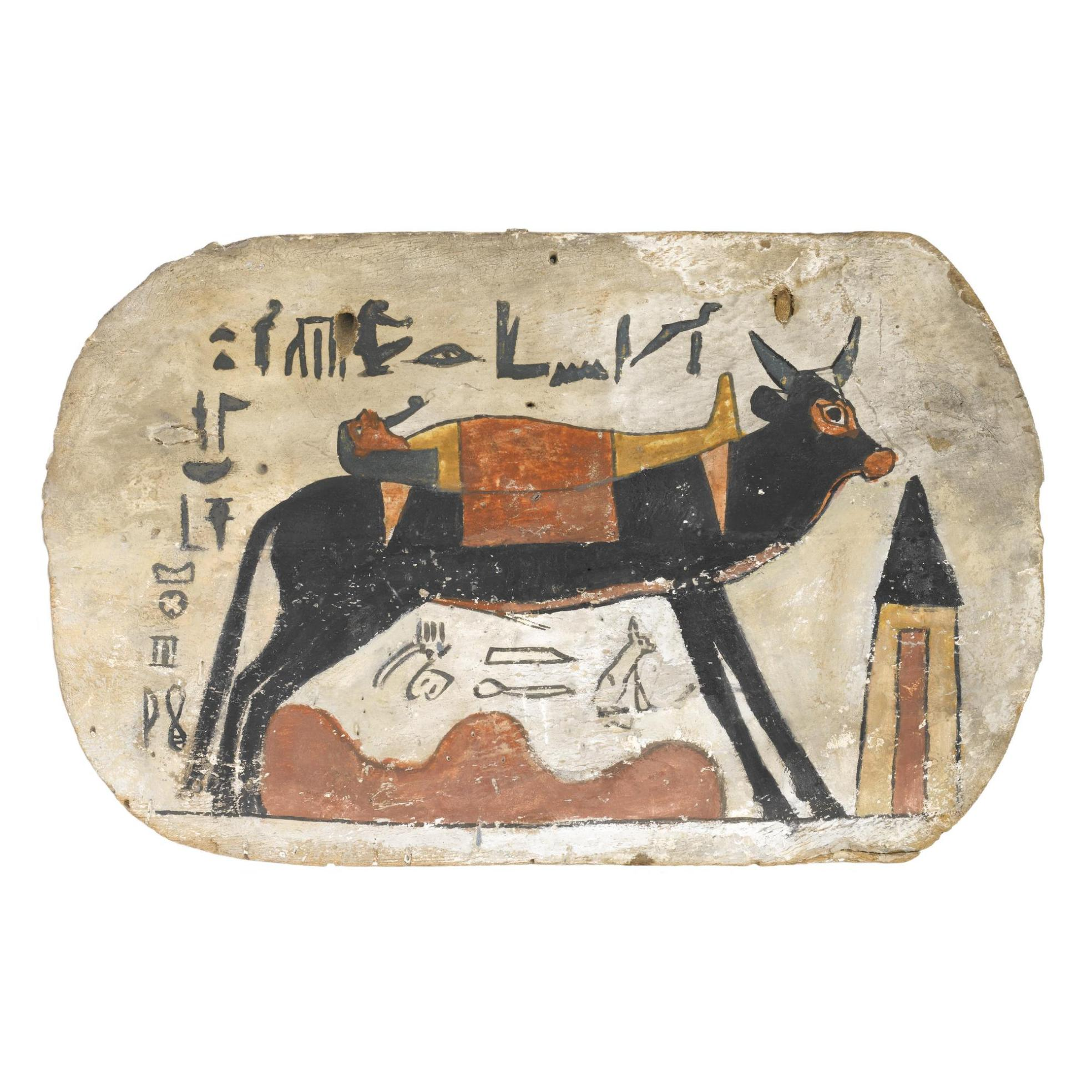 Egyptian coffin footboard