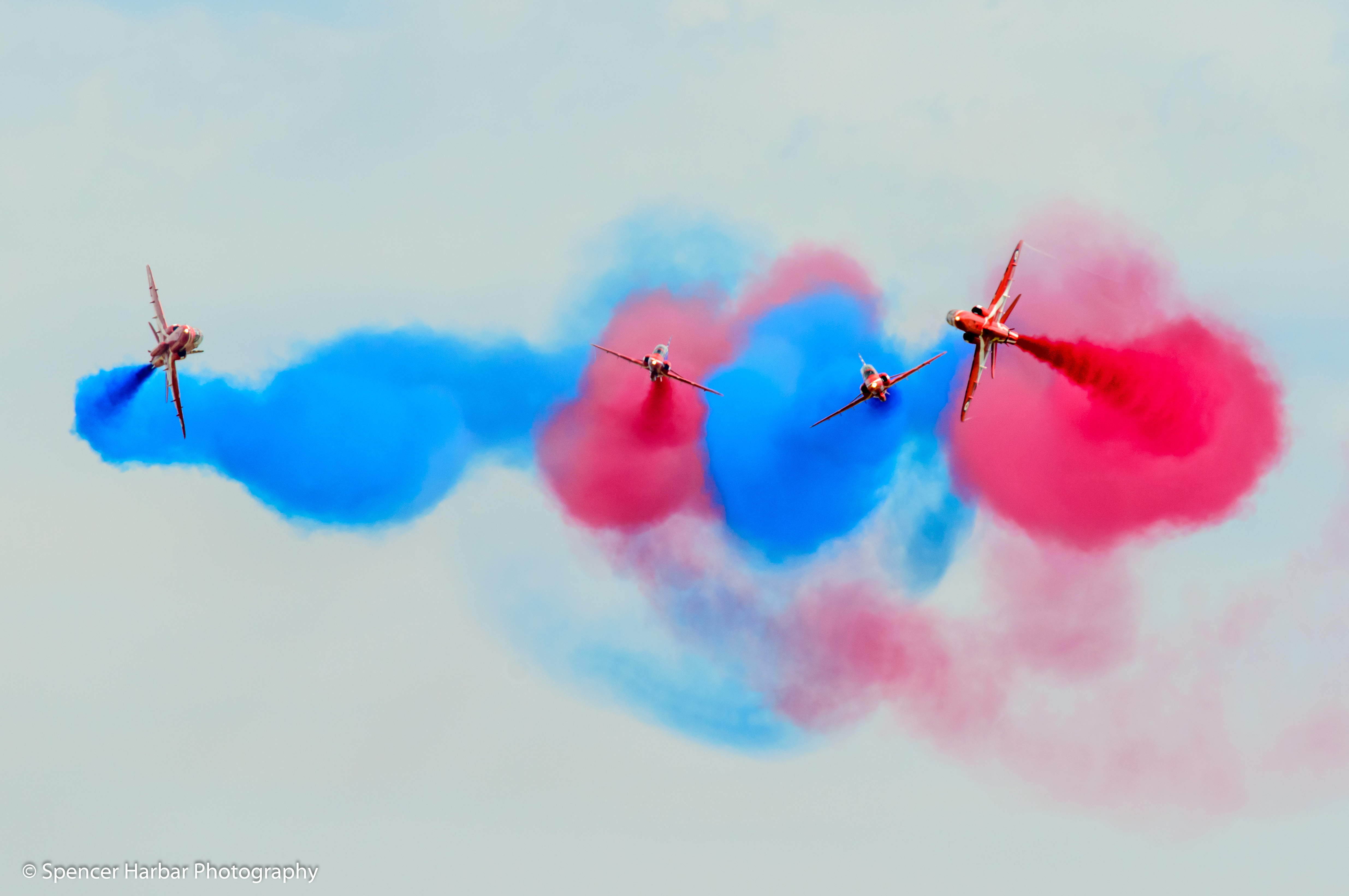 RAF Red Arrows over East Fortune © Spencer Harbar