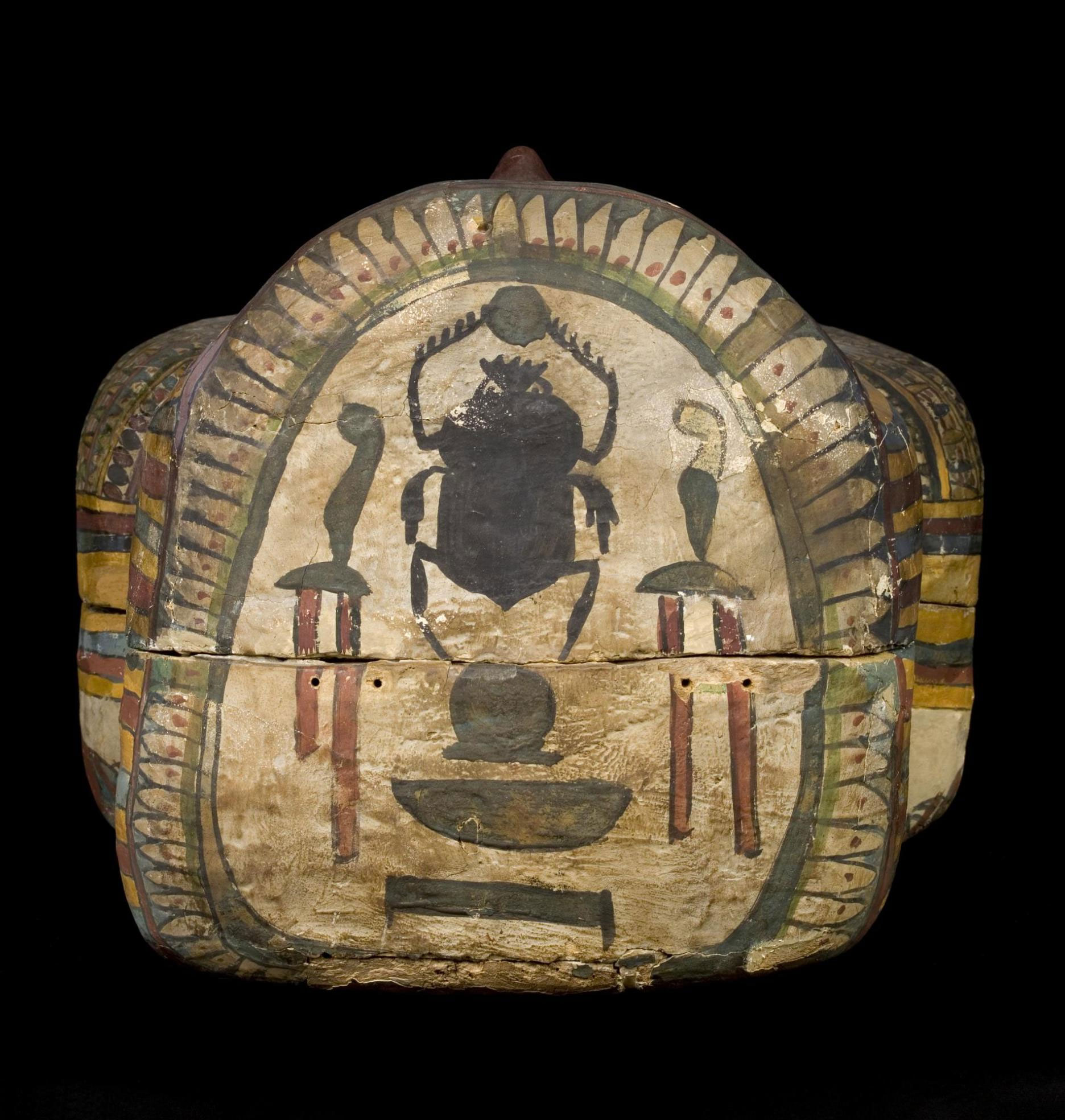 Scarab Beetle On Coffin Of Amenhotepiin