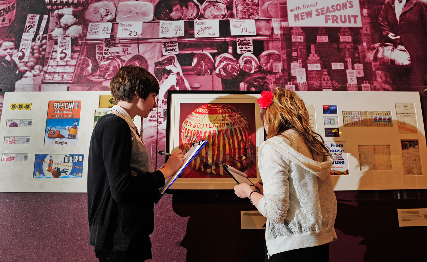 School visit to the Scotland: A Changing Nation gallery