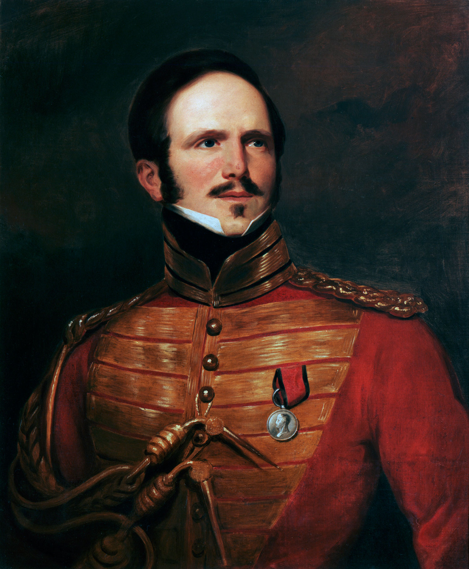 Painting of Major James Wemyss of Poole's Troop, Royal North British Dragoons (Scots Greys), oil on canvas, artist unknown, c. 1826