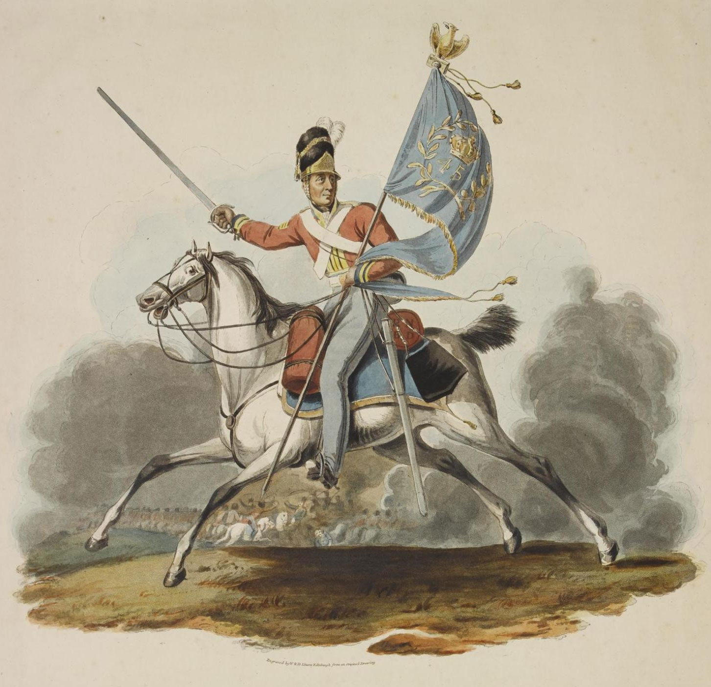 Sergeant Charles Ewart taking the French eagle at Waterloo