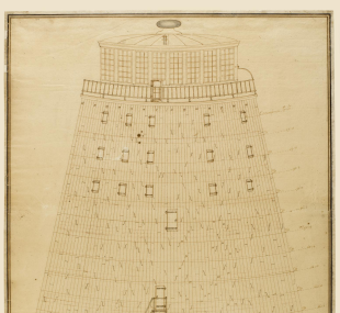 Lighthouse, Eddystone, second / drawing, elevation