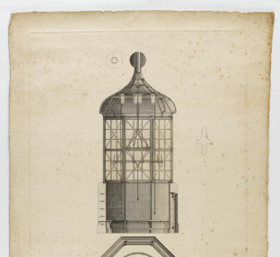 Lighthouse, Eddystone, third / lantern / drawing, plan and secti