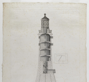 Lighthouse, Eddystone, third / drawing, section