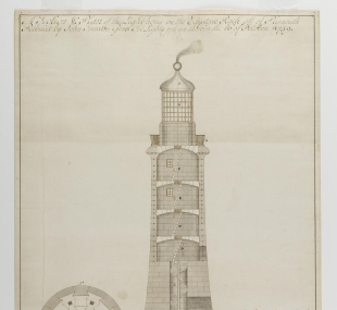 Lighthouse, Eddystone, third / drawing, plan and section