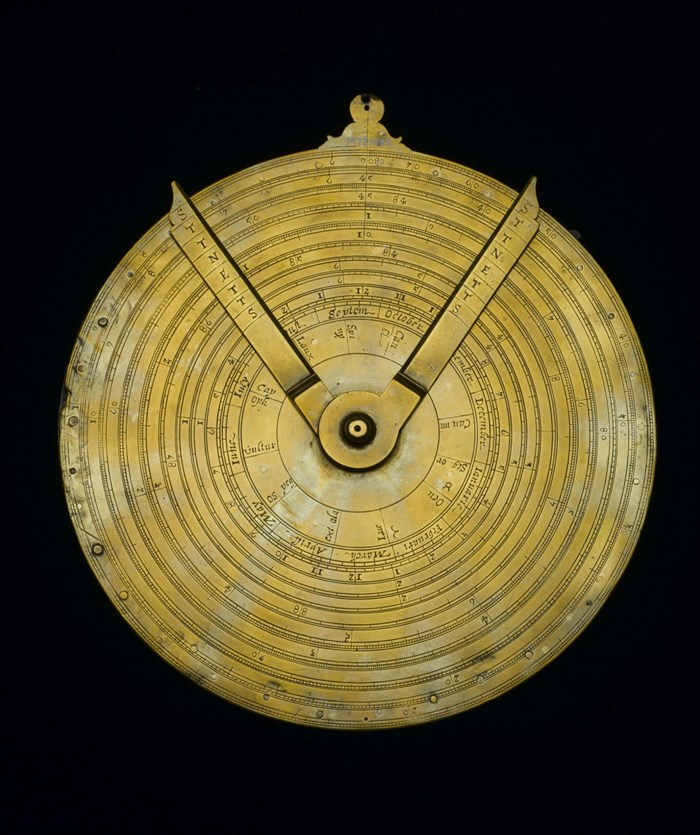 Instrument with circles of proportion by Robert Davenport, Scottish, c1650.