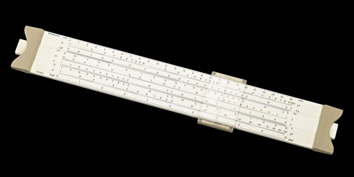 Slide rule used at Dounreay nuclear power station