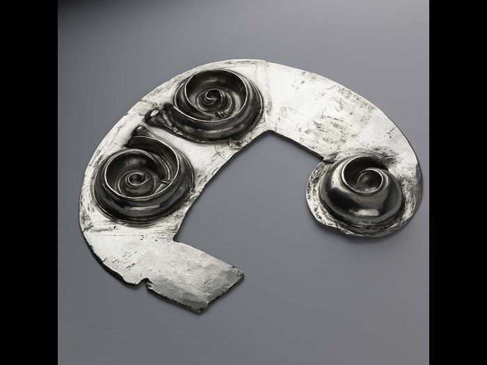 Spirals in the Norrie's Law hoard, Fife (AD 450–600).