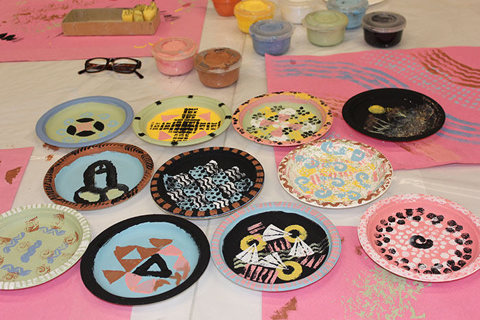 Plates designed by Edinburgh Young Carers