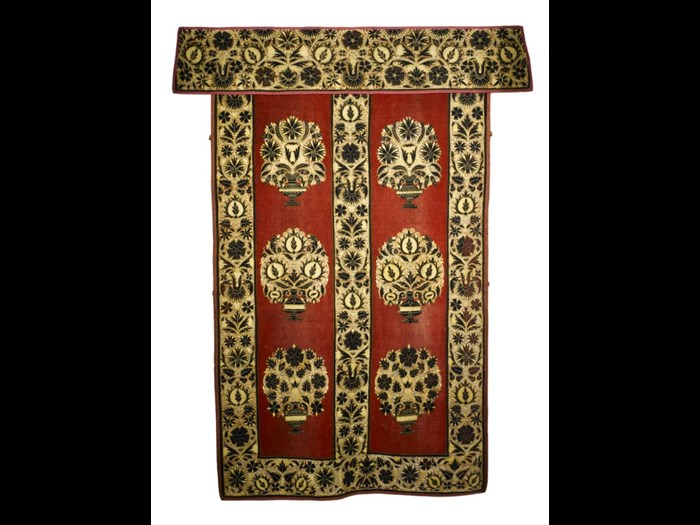 This rich wallhanging was once thought to have been stitched by Mary, Queen of Scots but was found to be the work of professional embroiderers. You can see it in the Kingdom of the Scots gallery.