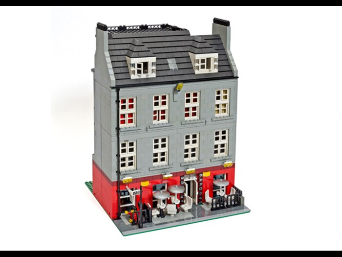 Edinburgh Broughton Street made in LEGO® by artist Warren Elsmore