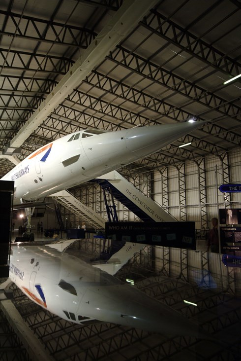 Concorde on display at National Museum of Flight