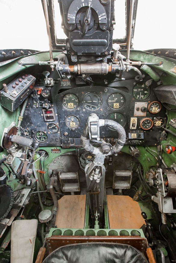 Cockpit of the Spitfire