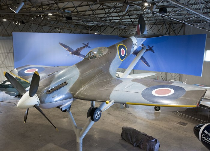 Supermarine Spitfire on display at the National Museum of Flight