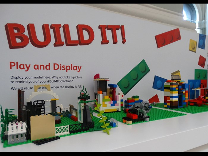 A selection of items that visitors have created in our Play and Display area at BUILD IT!