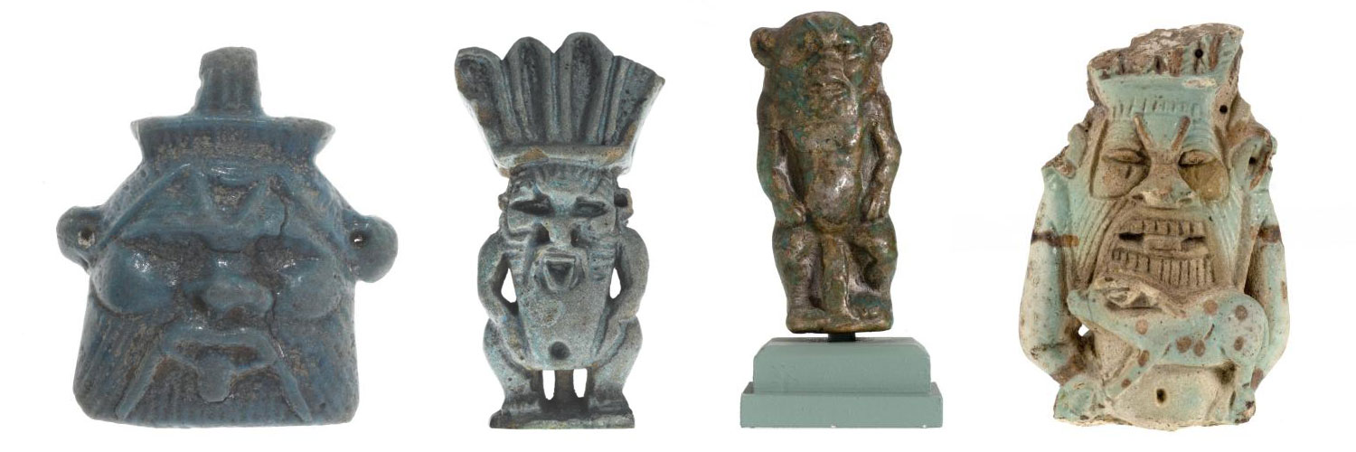 Images of the god Bes from the Ancient Egypt collection