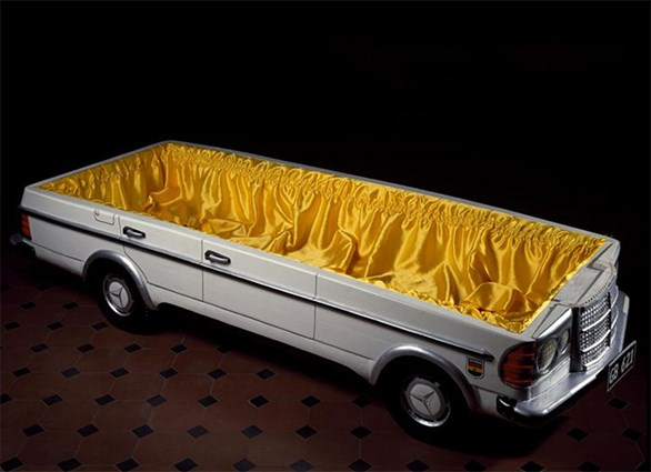 Inside the Mercedes-Benz coffin