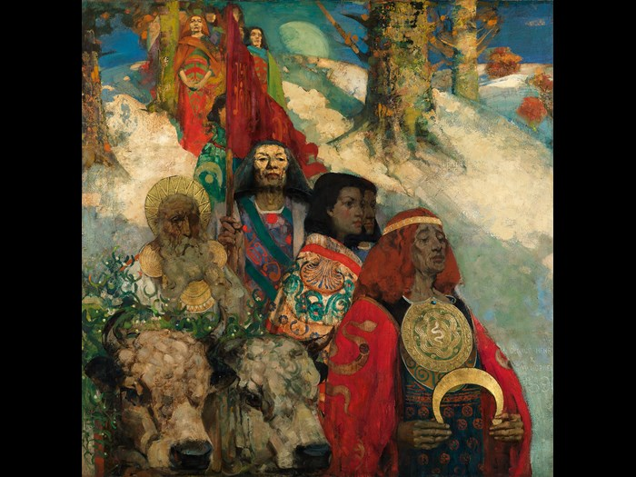 The Druids: Bringing in the Mistletoe (1890) by George Henry and Edward Atkinson Hornel. © CSG CIC Glasgow Museums Collection.