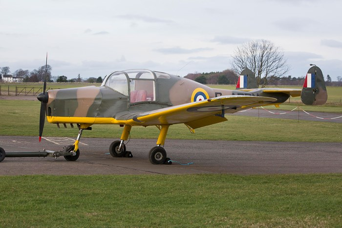 General Aircraft Cygnet flown by Squadron Leader Guy Gibson