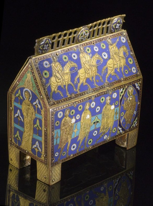 13th century reliquary side front