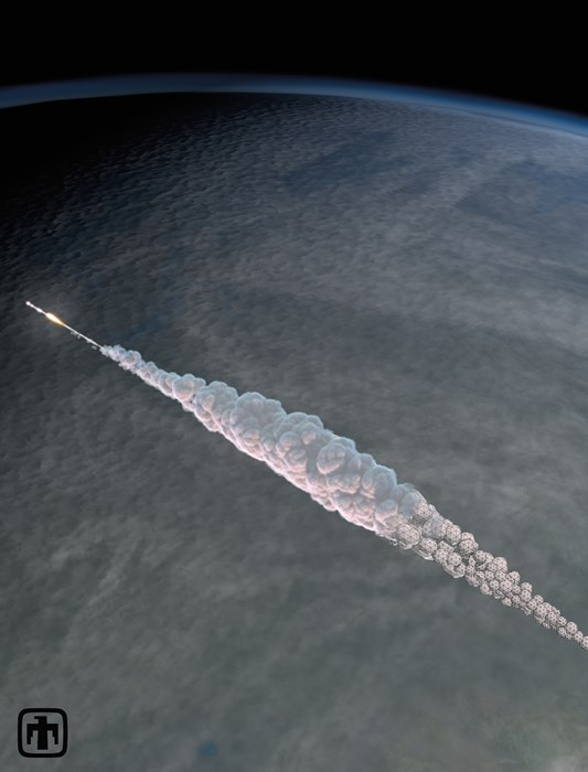 3D simulation of the Chelyabinsk meteor explosion by Mark Boslough