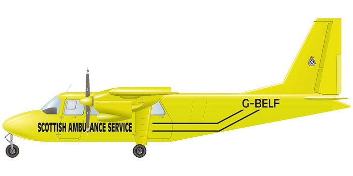 Illustration of the Britten-Norman Islander