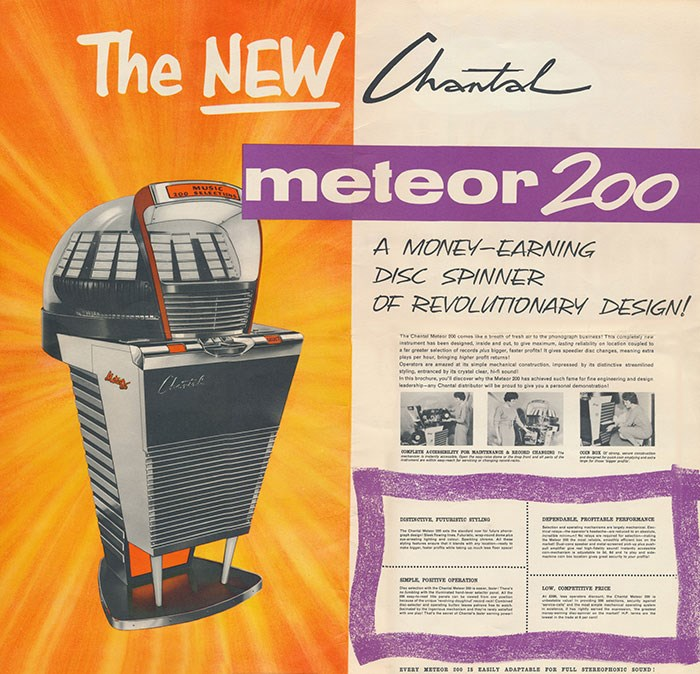 Advert for the Chantal Meteor 200