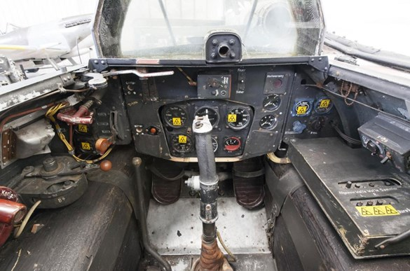 The cockpit of the Messerschmitt Komet