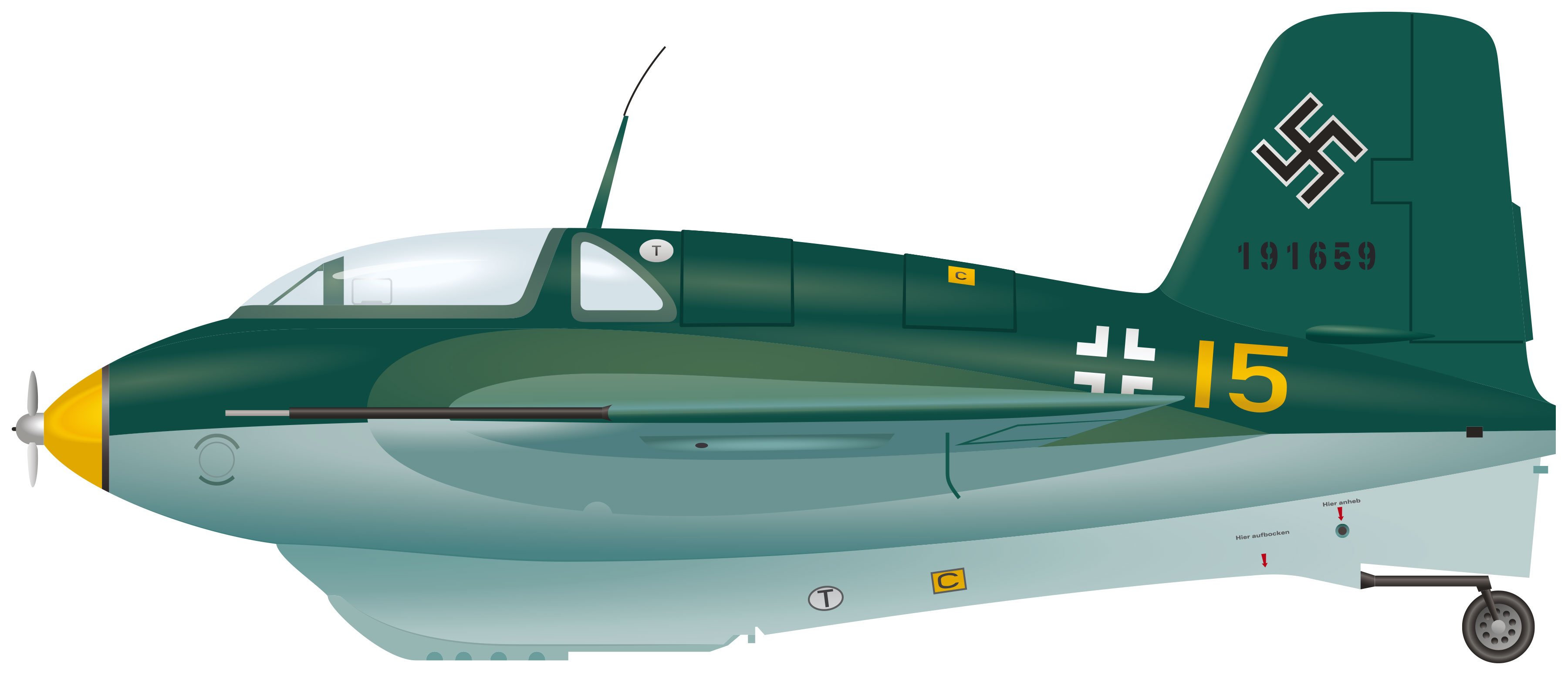 Illustration of the Messerschmitt Komet