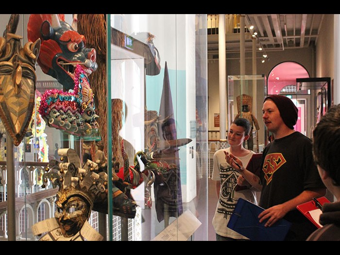 We create our own tours of the museum based on our own interests.