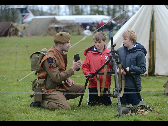 Meeting wartime re-enactors from the First and Second World Wars  © Neil Hanna