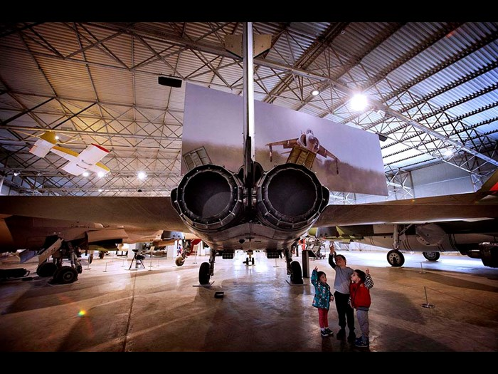 Rear of the Tornado jet fighter in the Military Aviation hangar © Paul Dodds