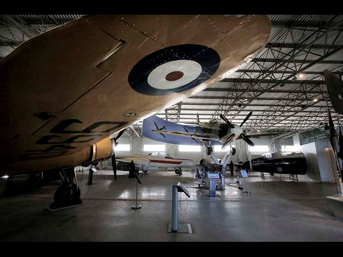Beneath the wing of the Bristol Bolingbroke in the Military Aviation hangar © Paul Dodds
