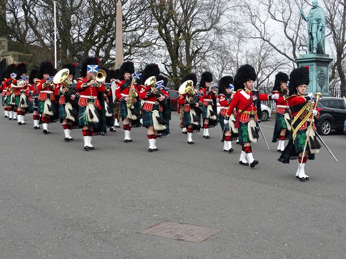 The Royal Regiment of Scotland celebrate their 10th anniversary at Edinburgh Castle esplanade.