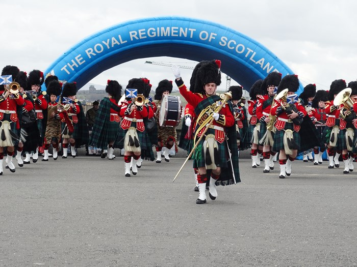 The Royal Regiment of Scotland celebrate their 10th anniversary at Edinburgh Castle.