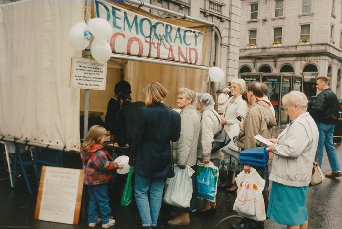 The Democracy for Scotland tent