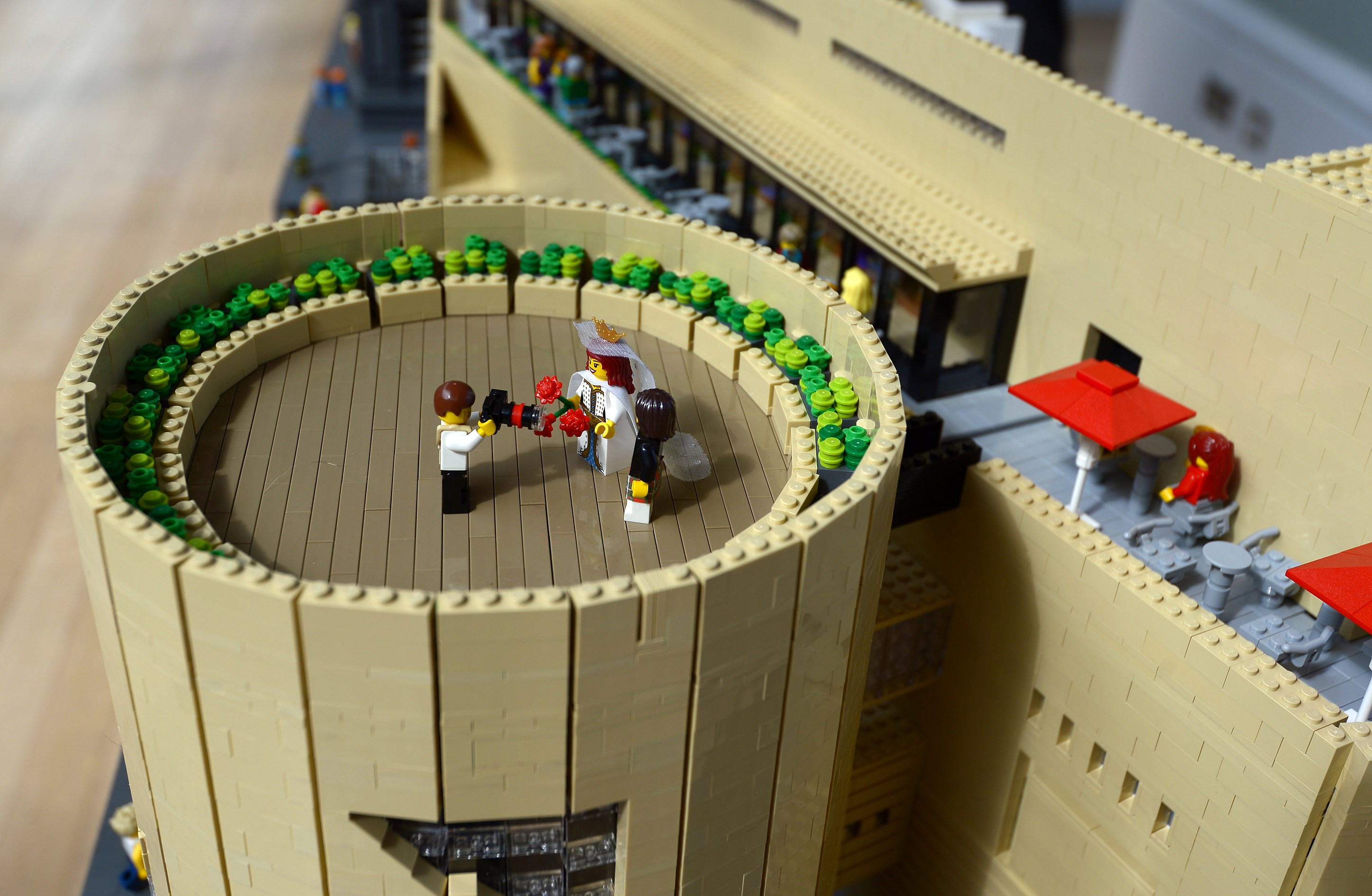 A LEGO® wedding on the private roof terrace at the museum