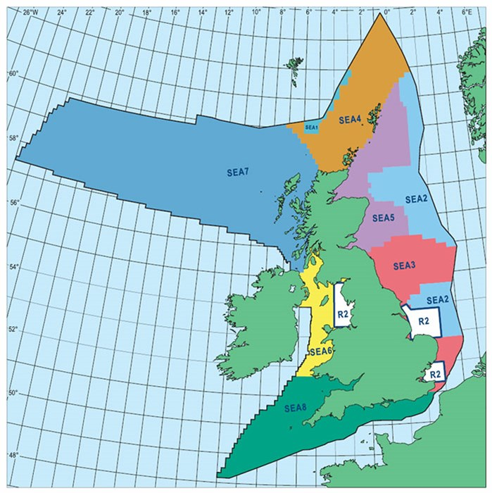 UK territory SEAs zones