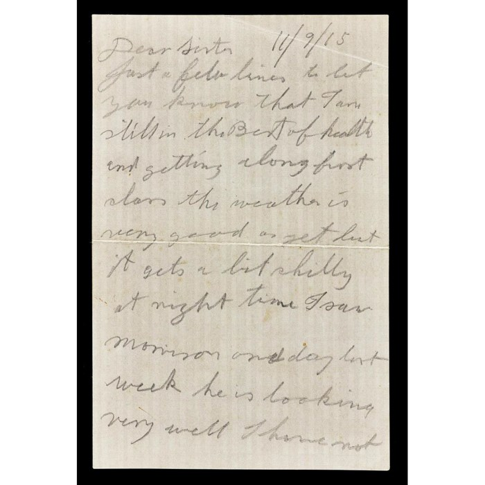 Letter sent by George Buchanan to his sister