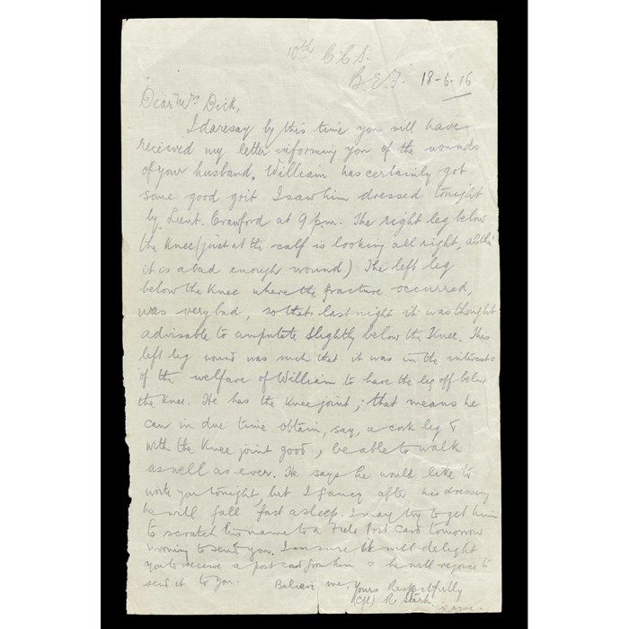 Letter from Corporal Stark to Margaret