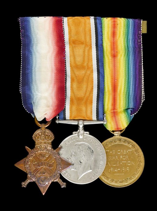 Harry Hubbard's service medals