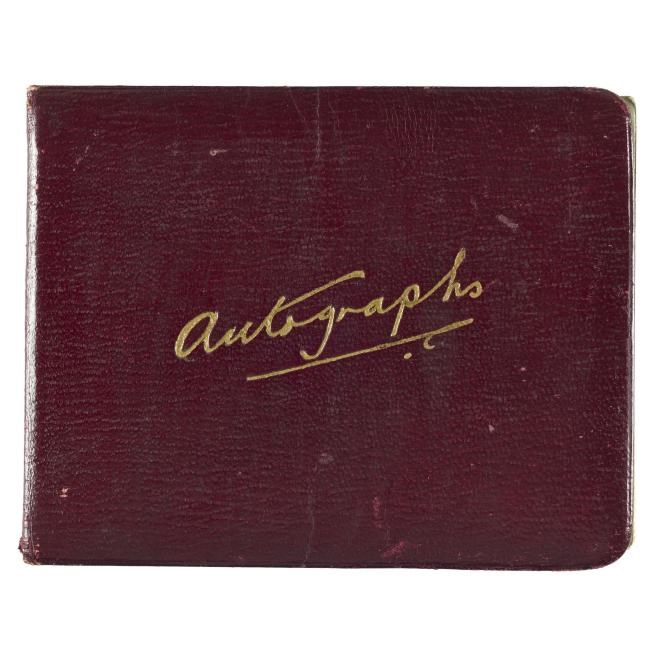 Harry Hubbard's autograph book