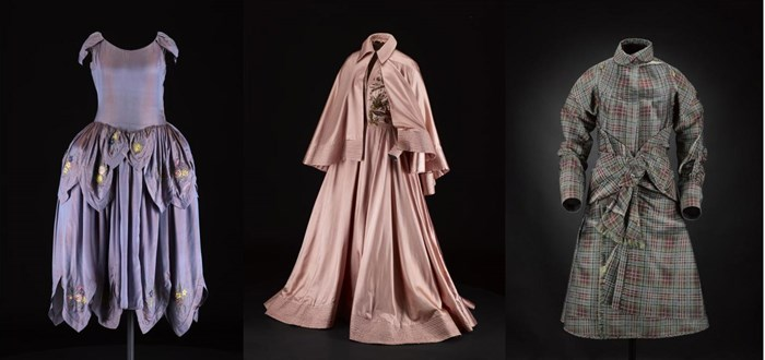 Lanvin robe de style, Jacques Fath ballgown and Jean Paul Gaultier suit