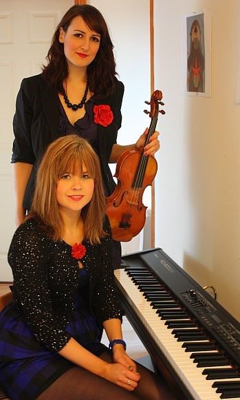 Tue 9 August: Kristan Harvey & Tina Rees – fiddle, piano and dance duo