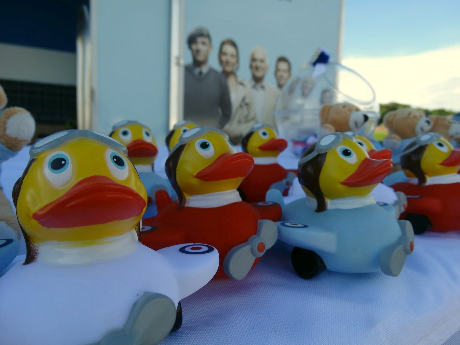 Ducks on parade from the Royal Air Force Association at Scotland's National Airshow.